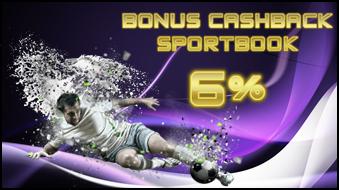 Bonus Cashback SPORTBOOKS 6%