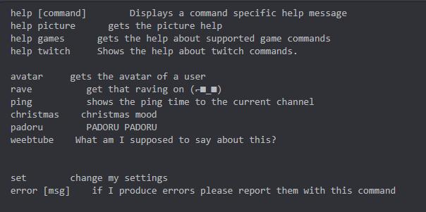 Command list