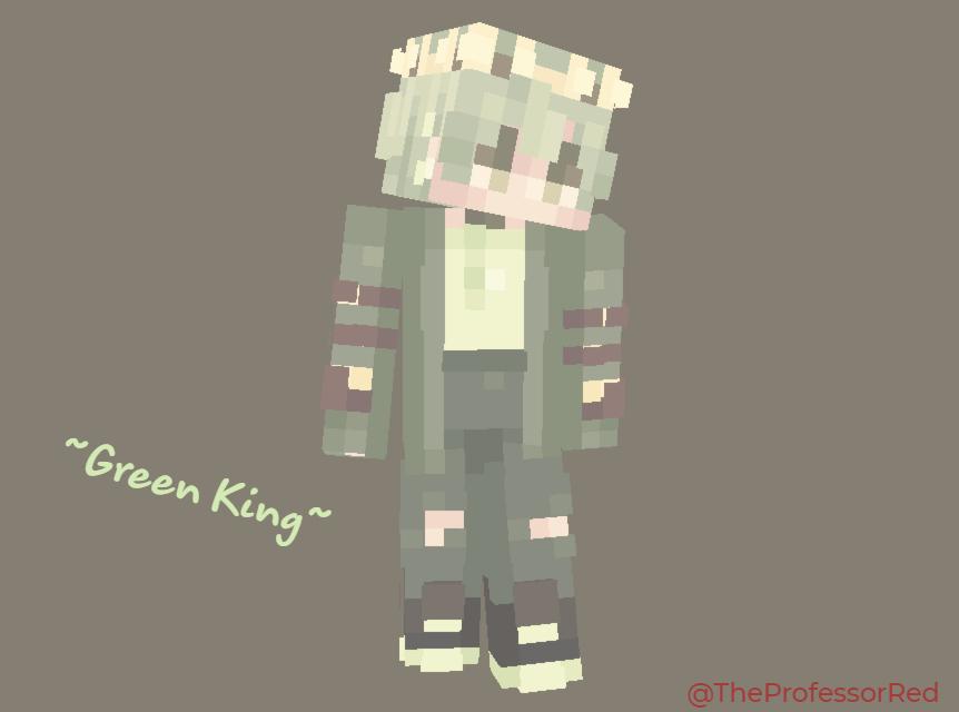 Green King Minecraft Skin
