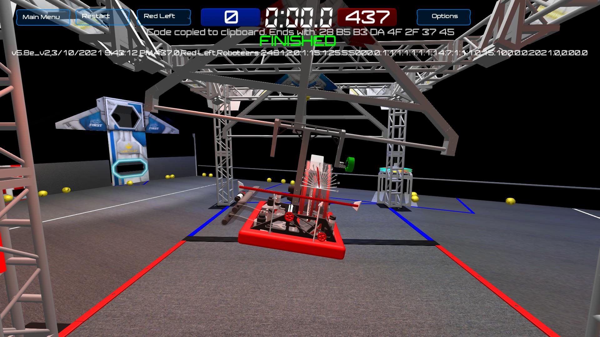 Roboteers score screnshot