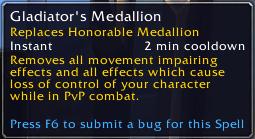 gladiator's medallion