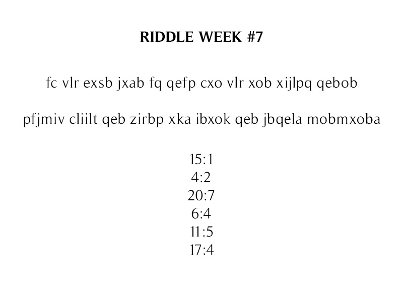 The Icehouse Weekly Riddles Riddle_week_7