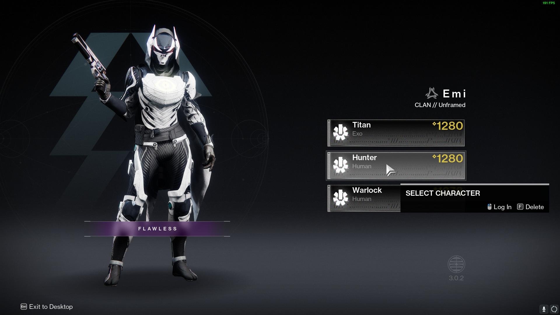 My Hunter Destiny 2 fashion emblem try out