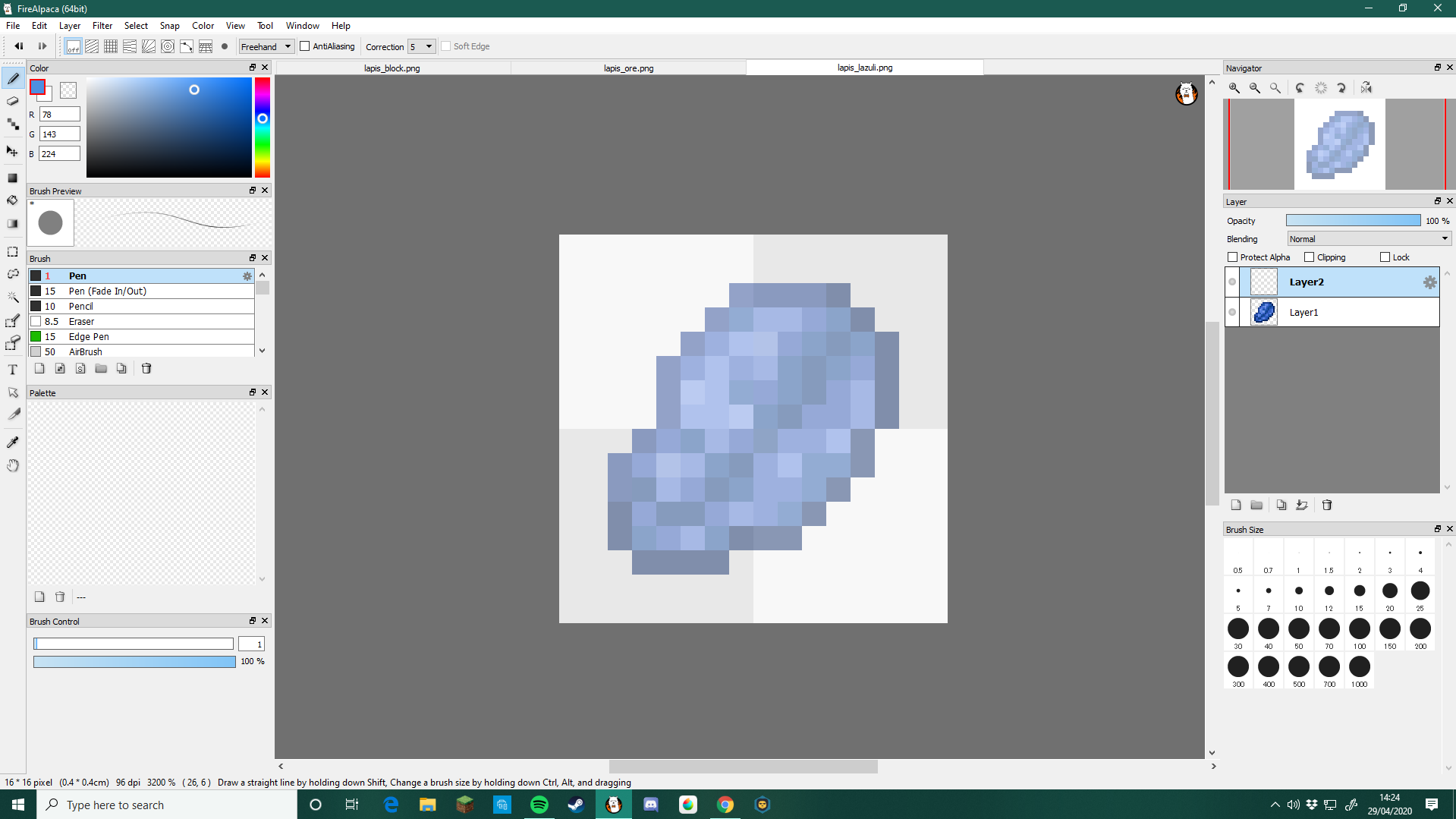 PMCRP ~ Making a texture for items/blocks!