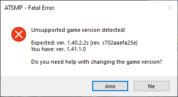Unsupported Game Version
