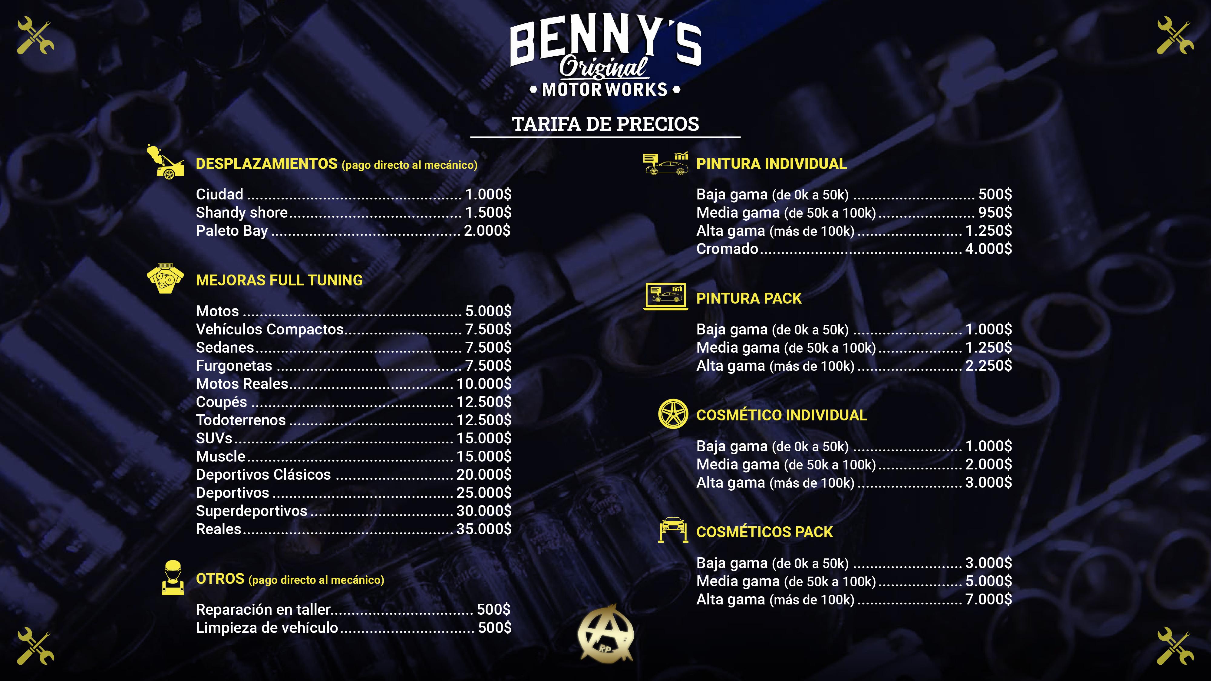 CÁTALOGO DE PRECIOS TUNING Lista-de-Precios_Mesa_de_trabajo_1