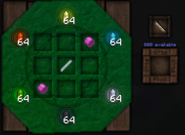 Trying to craft wand with elementium