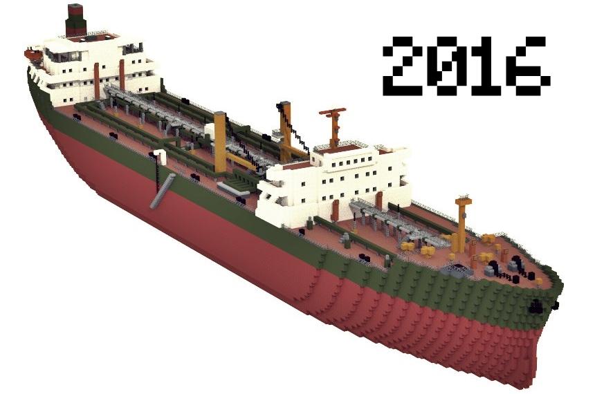 "Tanker ""Leviaphan"" (Custom) 1:1 Minecraft Map"