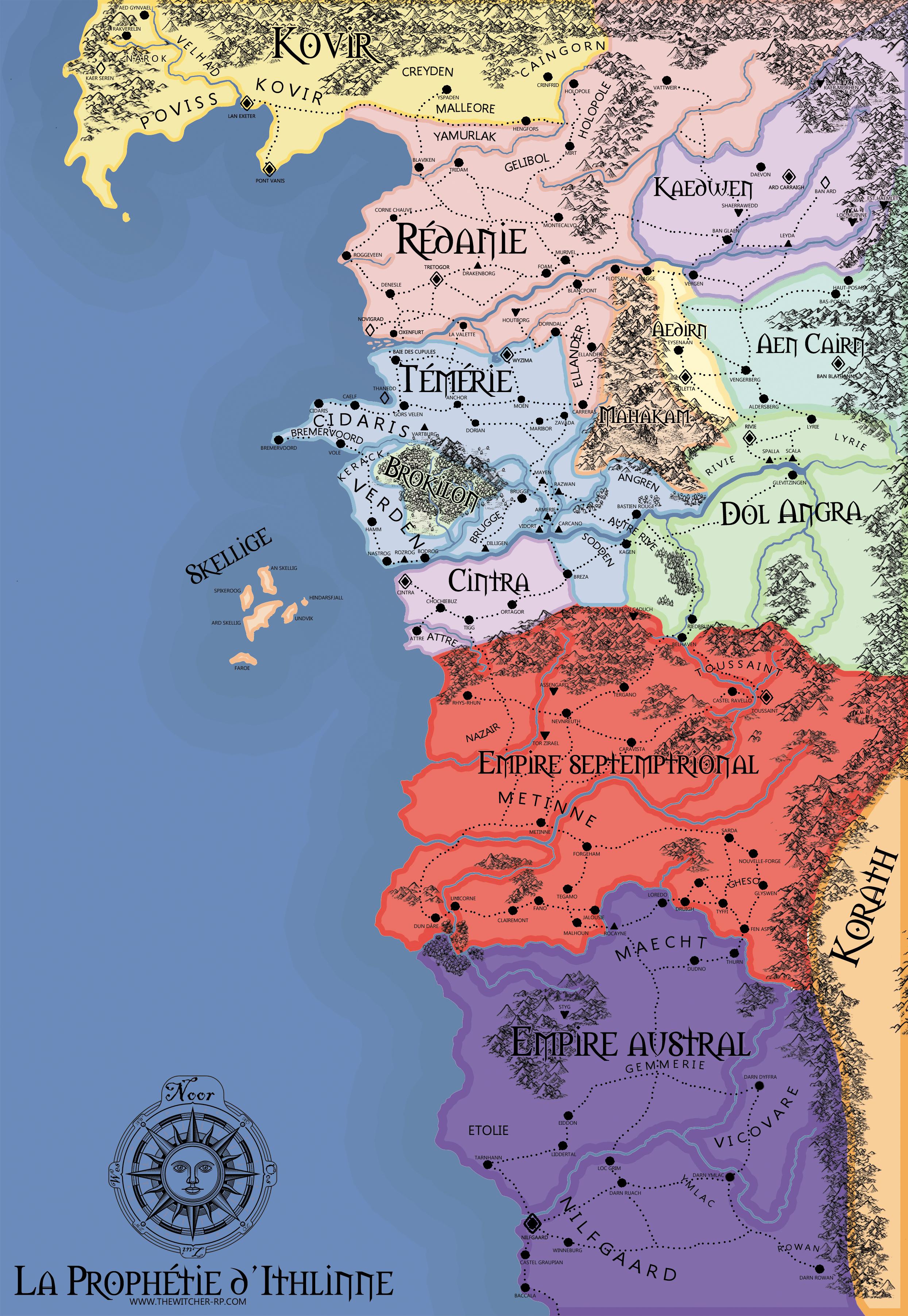 Carte du monde connu Cartee