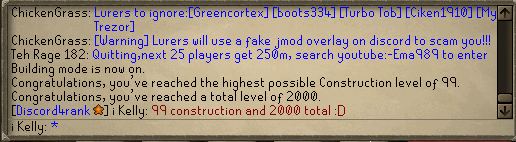 99 Construction & 2,000 Total Level! Unknown