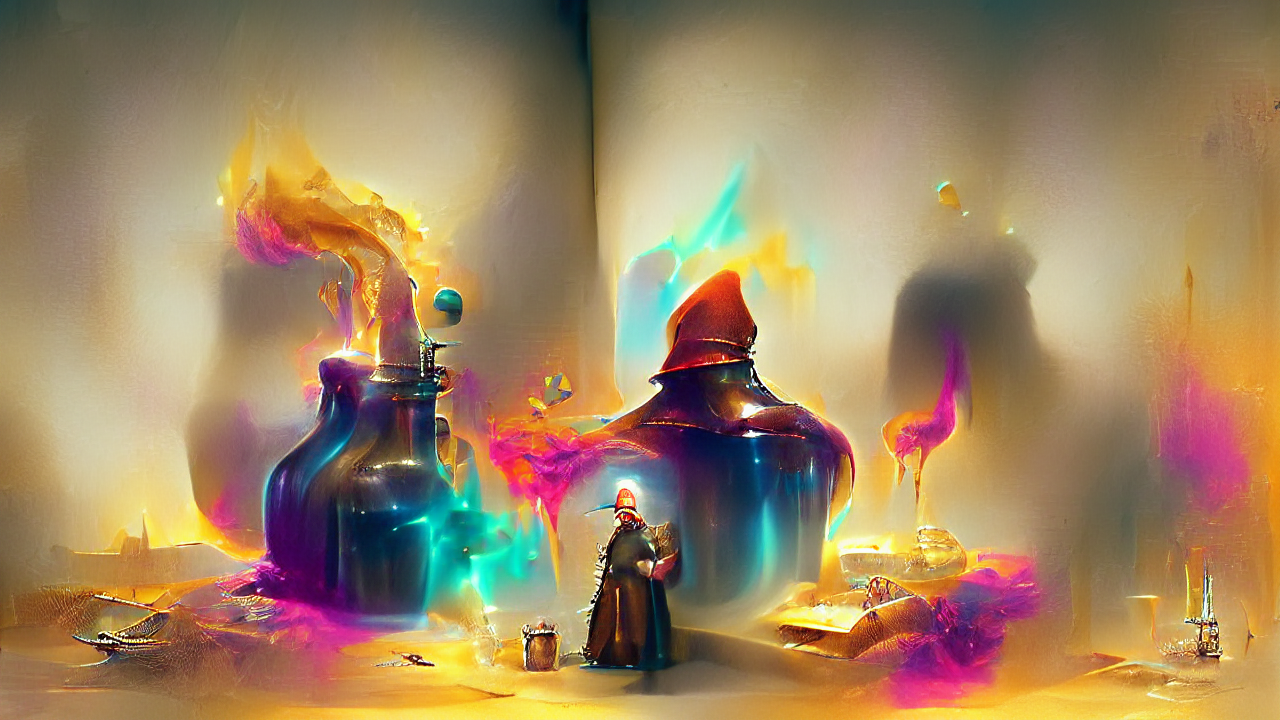 The Alchemist by Thomas Wijck as imagined by Janus