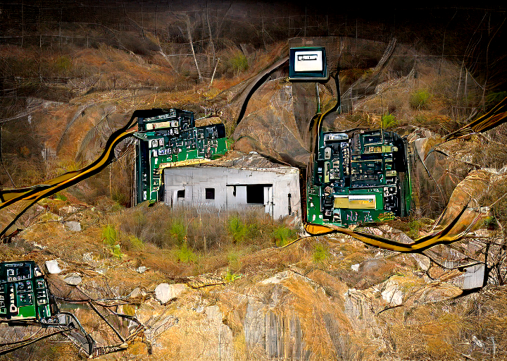 abandoned bitcoin mine as imagined by nmkd