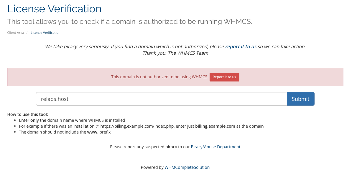 Nulled WHMCS