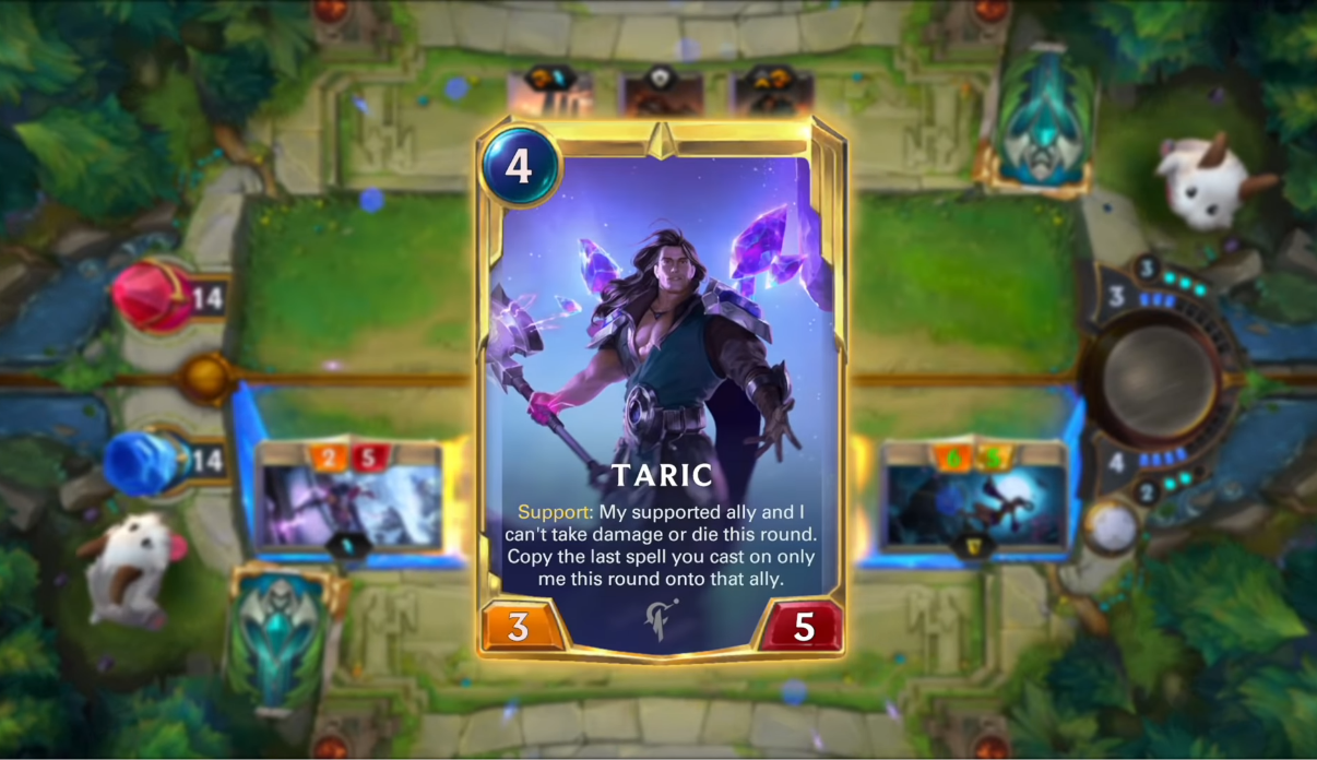 legends of runeterra new champion taric