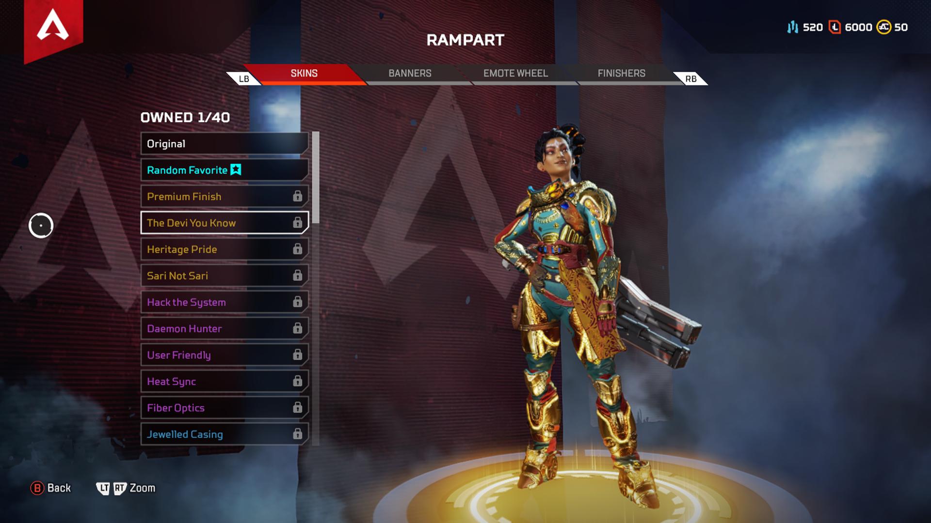apex legends rampart legendary skins