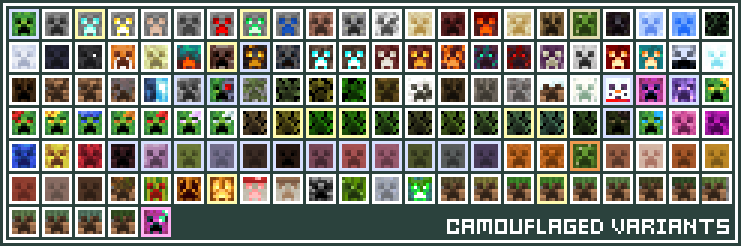 Jaden's Camouflage Creepers [ Optifine Required ] Minecraft Texture Pack