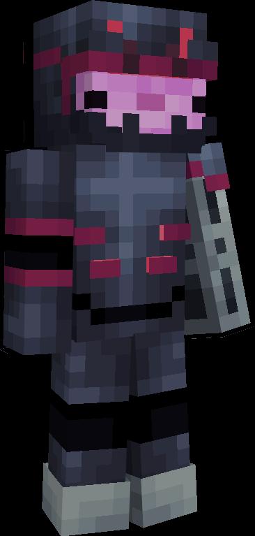 Cybernetic Axolotl Minecraft Skin