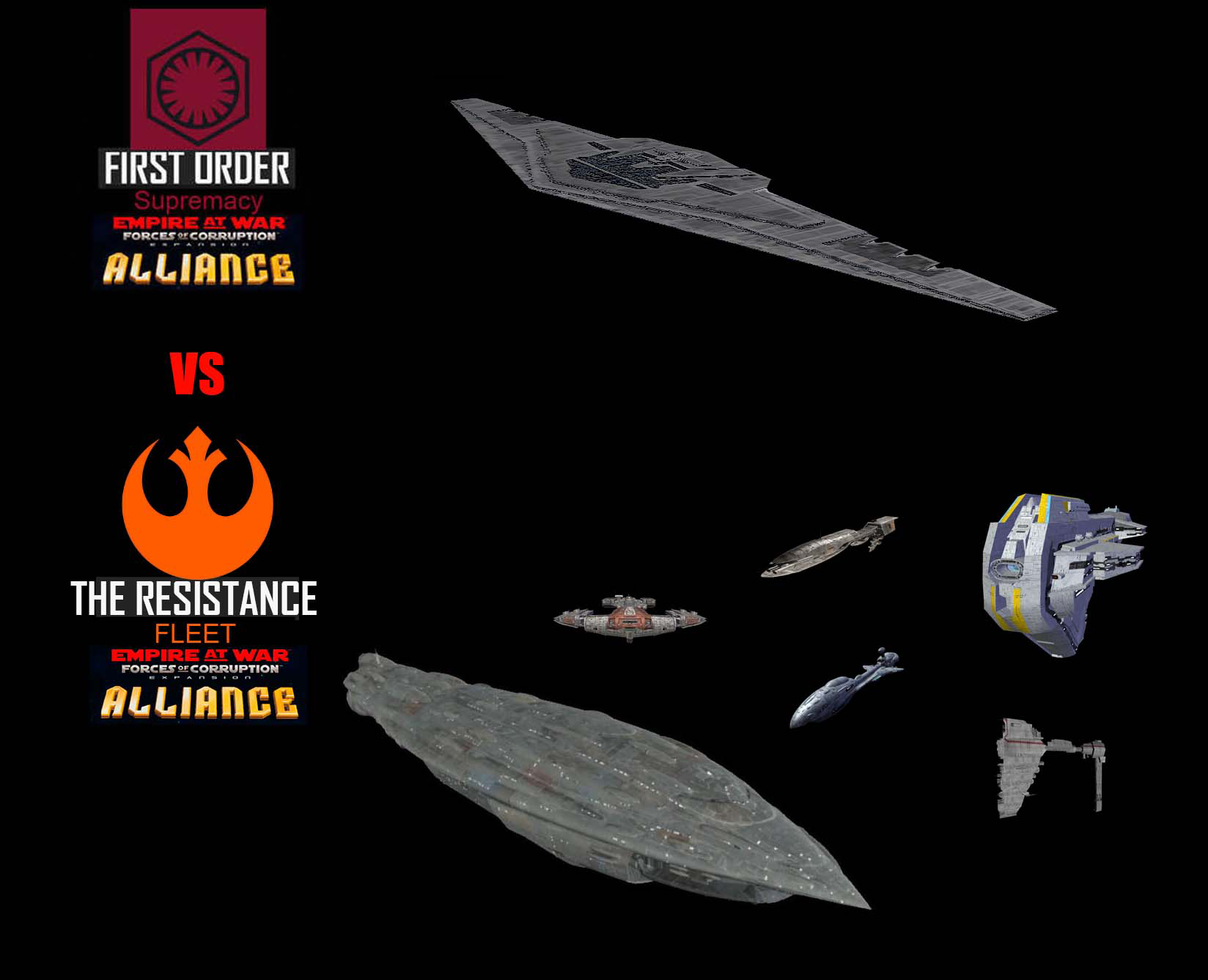Star Wars Empire at War – FOC Alliance – Resistance Fleet vs Supremacy