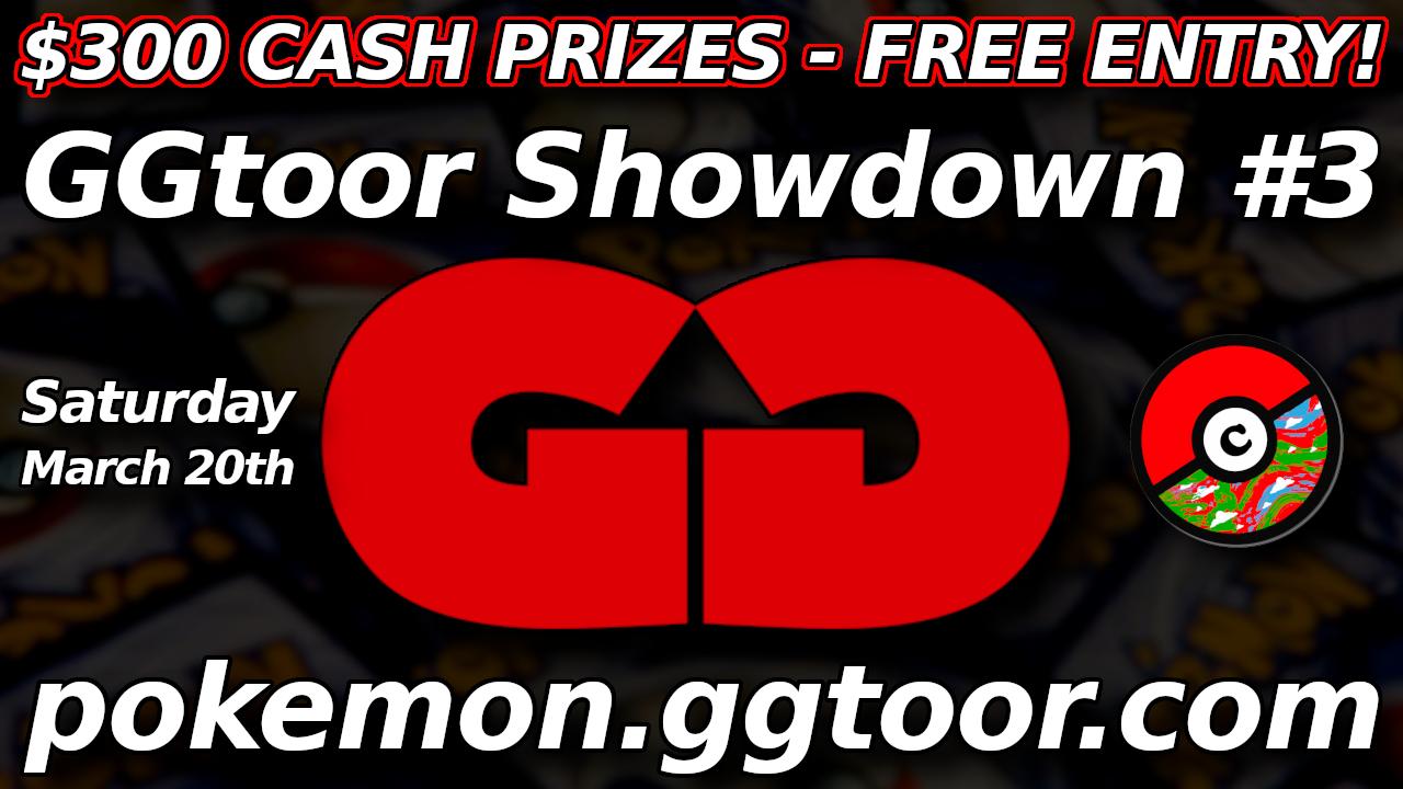 $300 CASH GGtoor Pokemon Showdown #3-Free!
