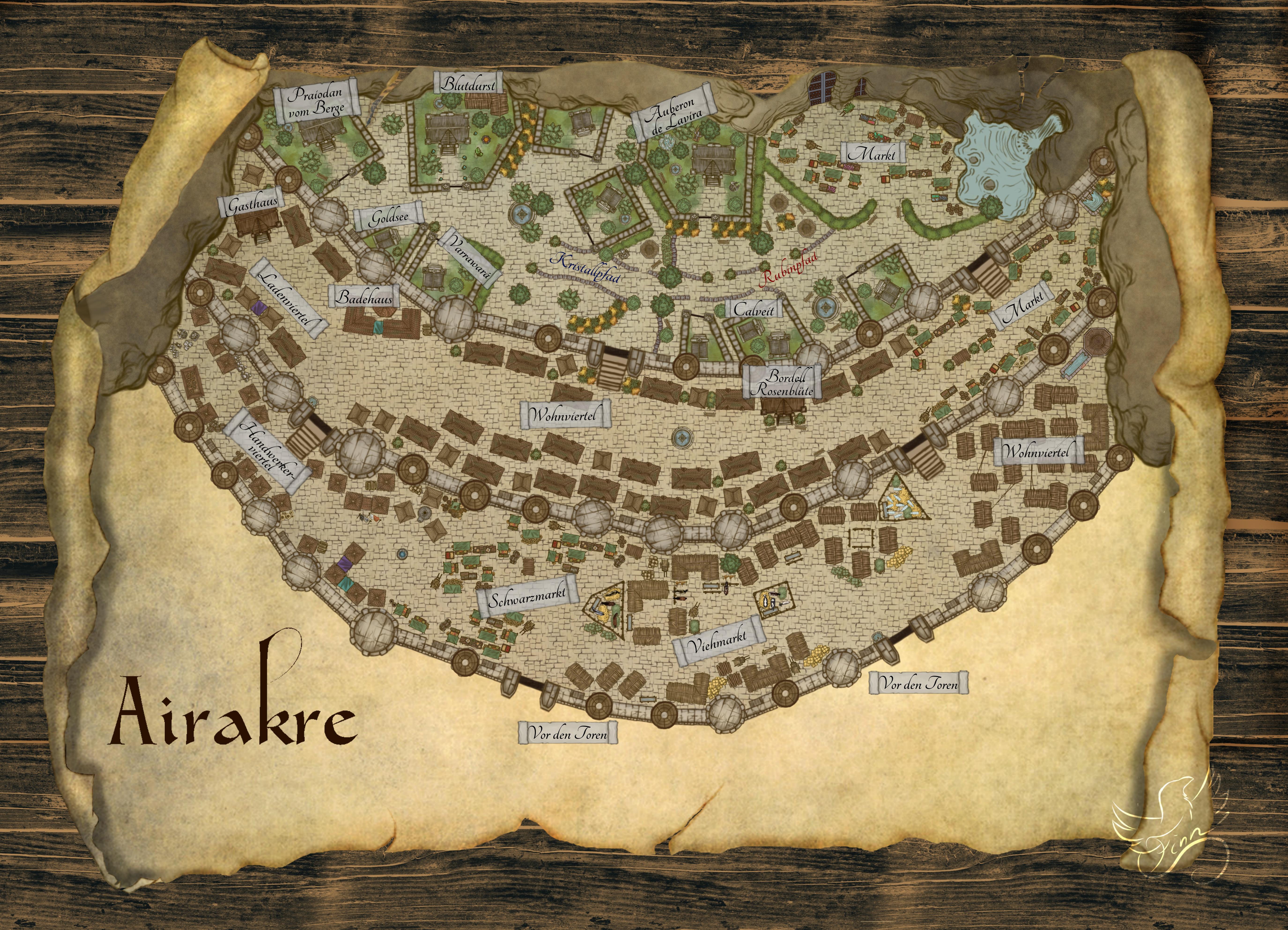 Stadtkarte Airakre