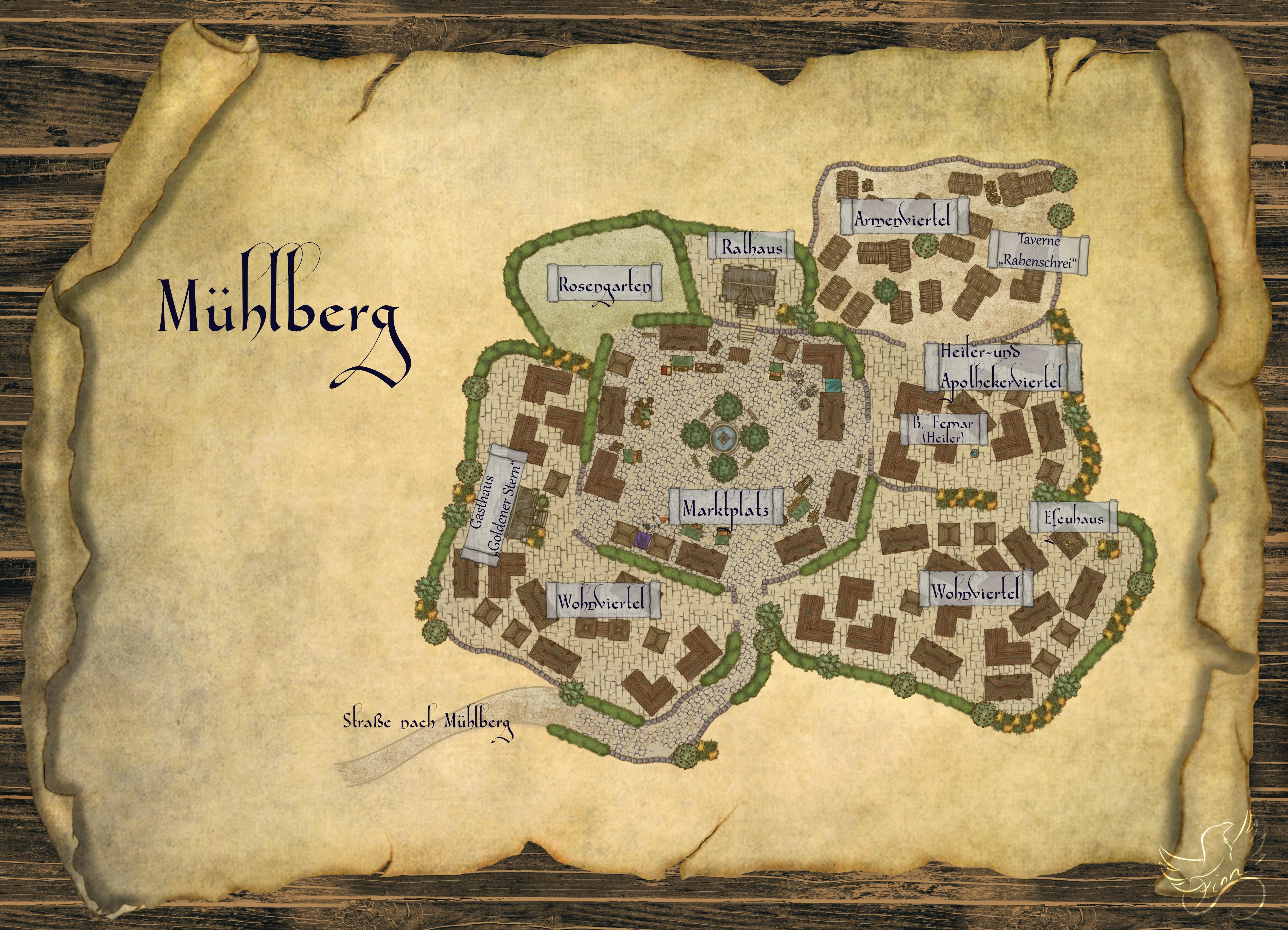 Karte von Mühlberg