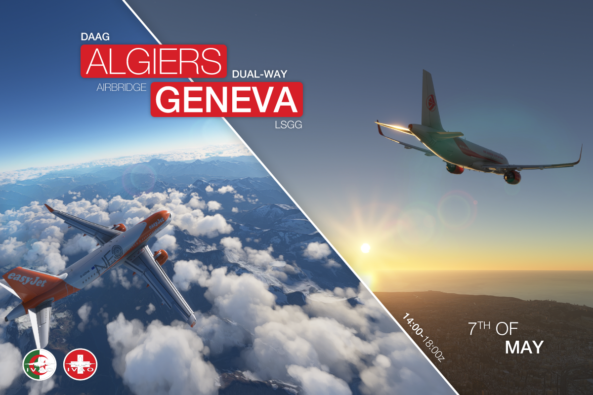 [DZ+CH] Algiers - Geneva  Airbridge