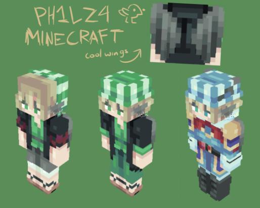 .;* crow father . philza (+ ALT OUTFITS) *;. Minecraft Skin