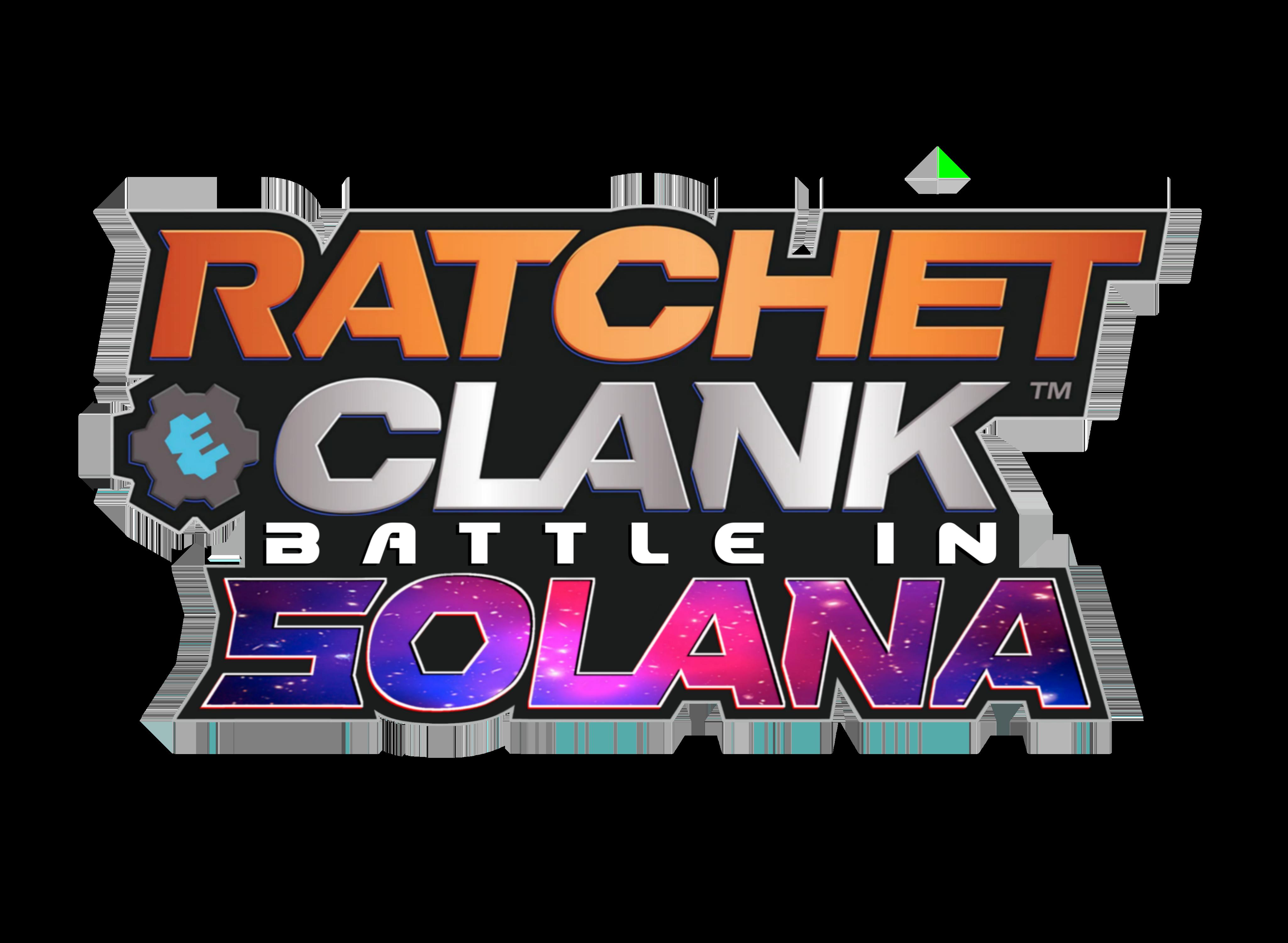 Logo de Ratchet & Clank: Battle in Solana, designé CROCO.