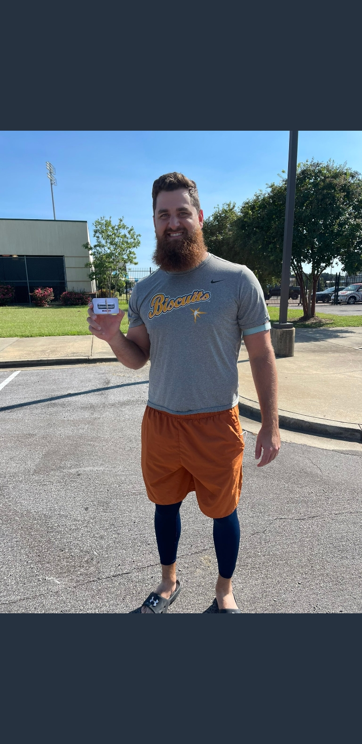 Biscuits player with Chipotle gift cards.