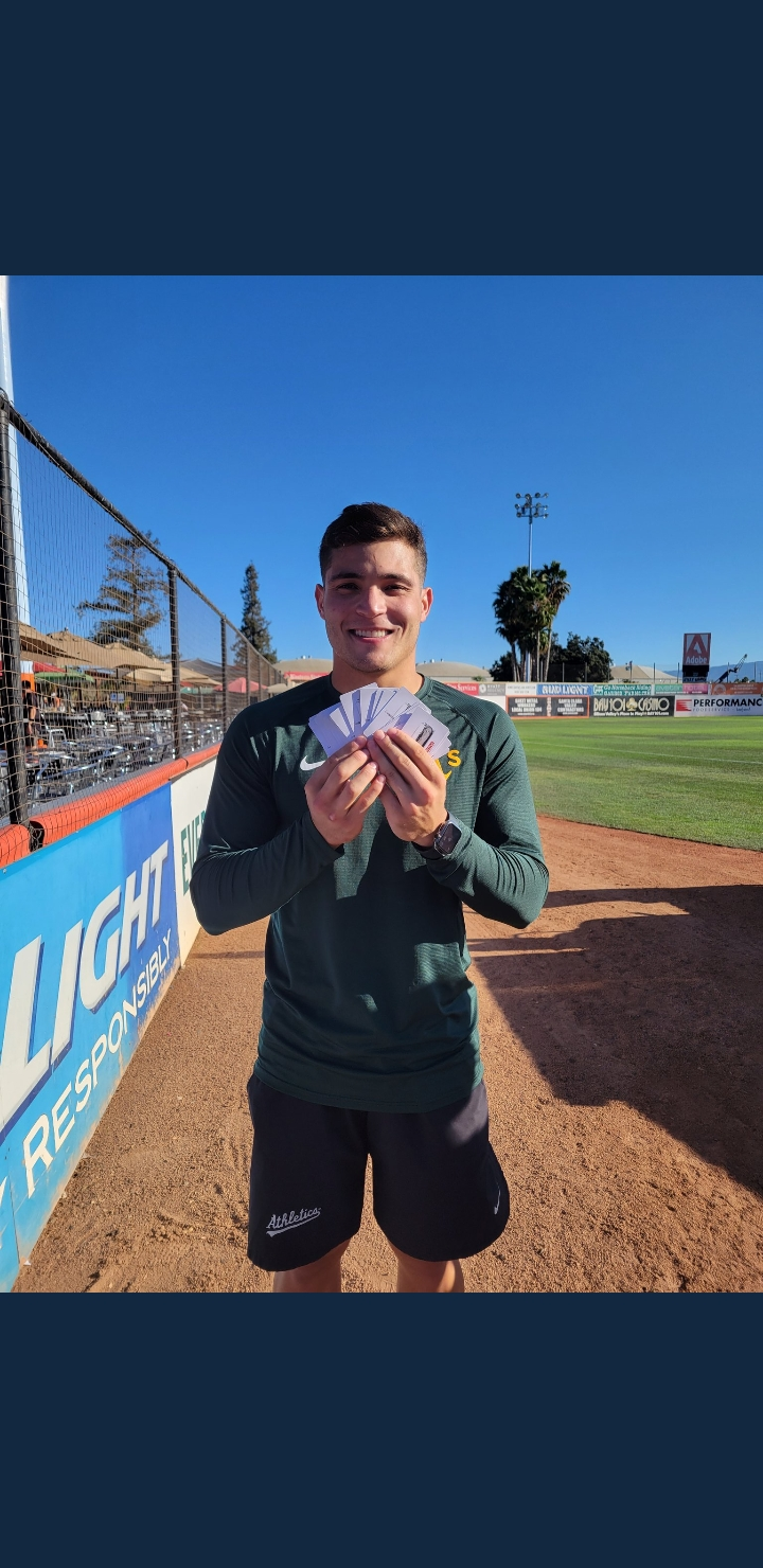 Ports player with Chipotle gift cards.