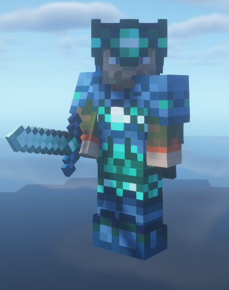 Unfinished armor and sword