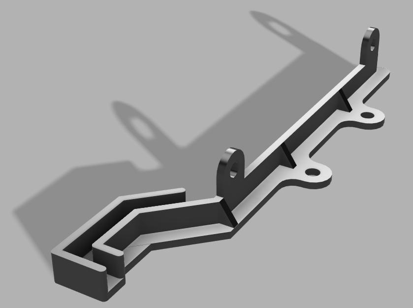 Pièce 3D qui maintiendra les trois planches du dessus