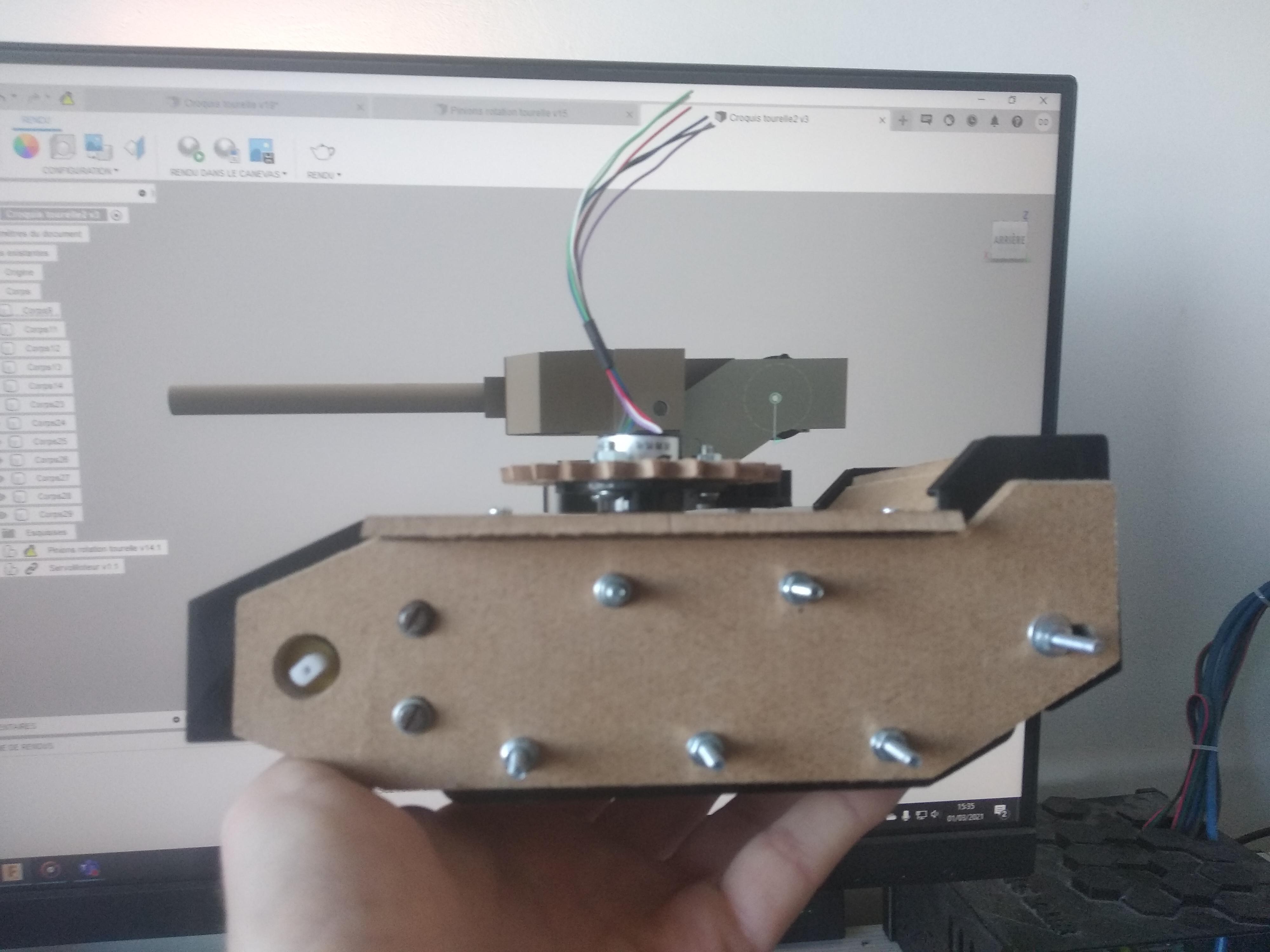Modélisation 3D tourelle