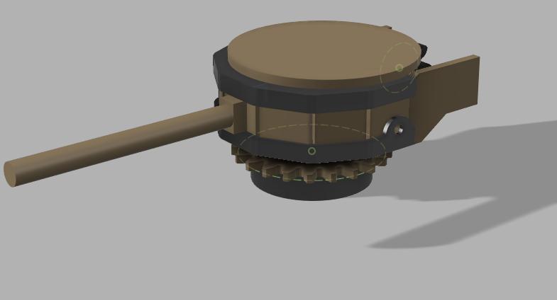 Modélisation 3D couvercle tourelle