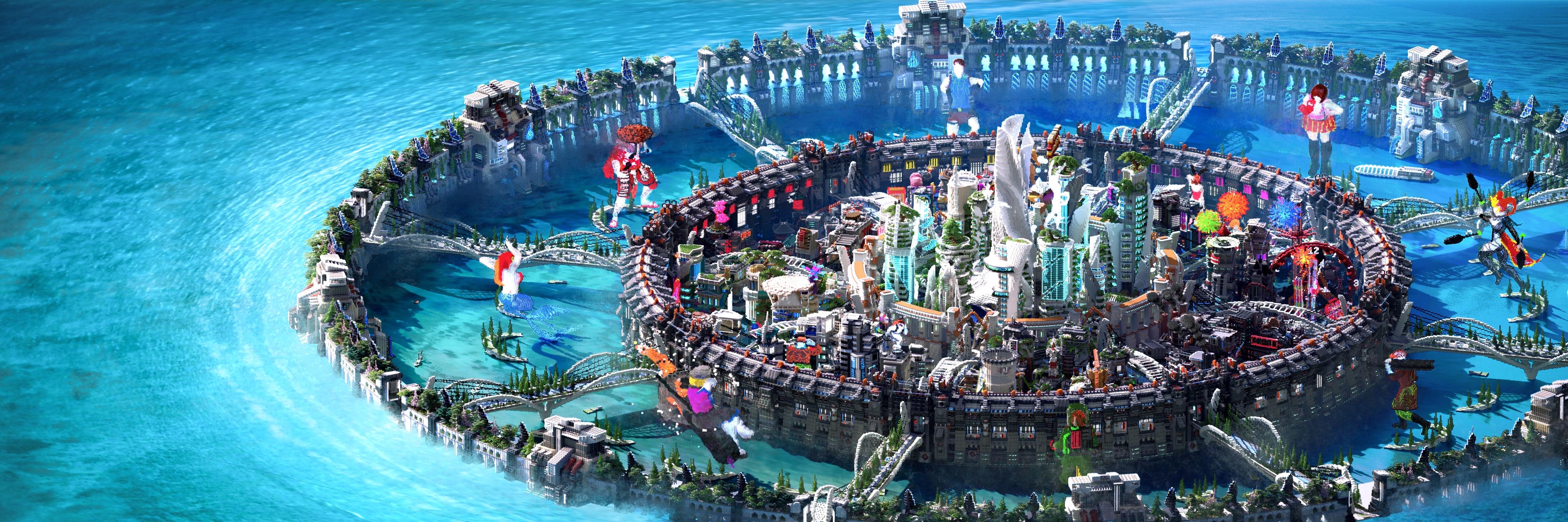 Nova Celes City, The futuristic town (Cité du Swagg) [Download] Minecraft Map