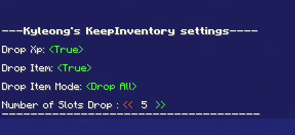 [Kyleong's KeepInventory] Control your amount of items drop! Minecraft Data Pack