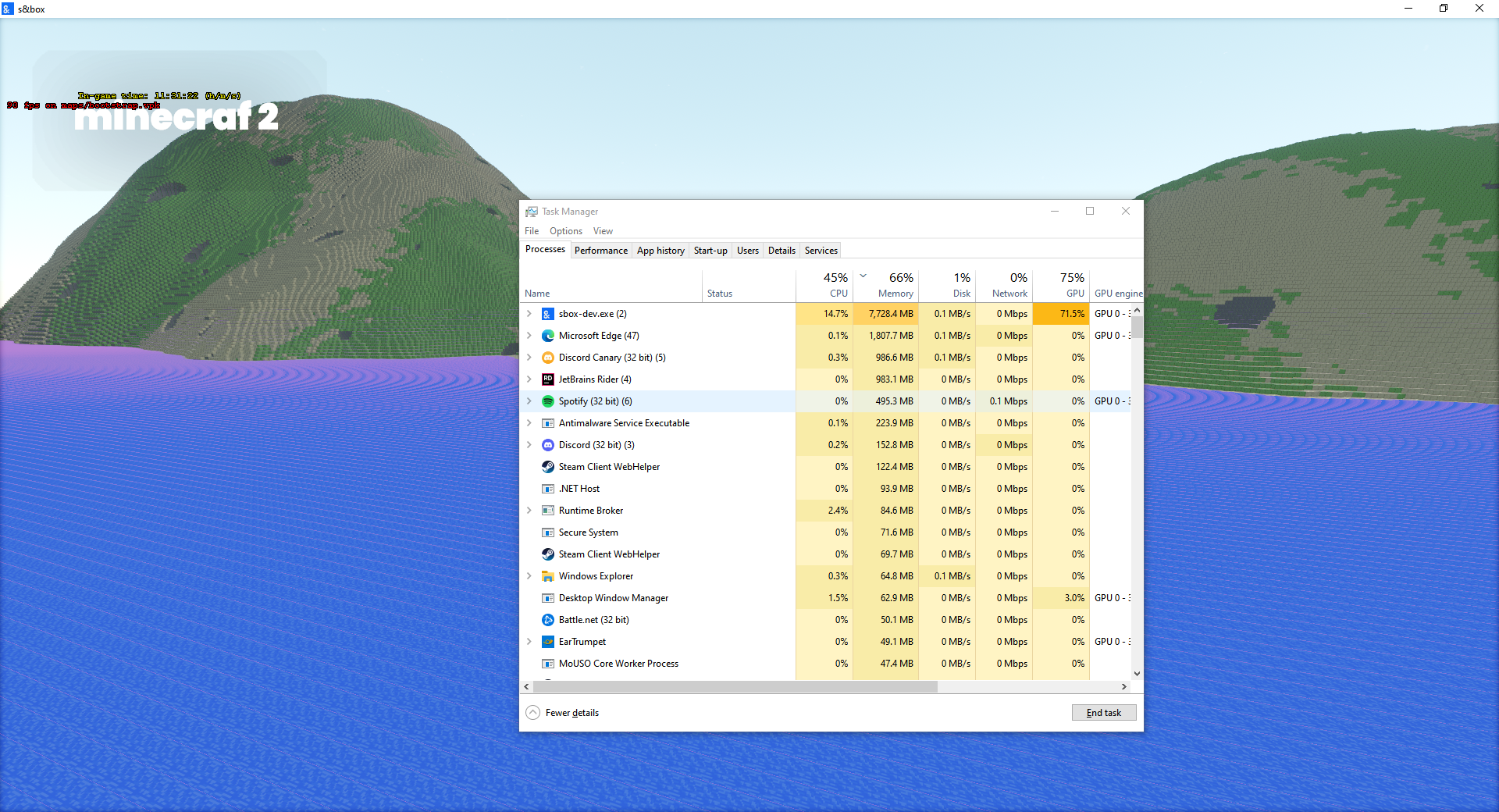windows has bad memory management issues