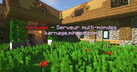 Serveur Minecraft Karnage