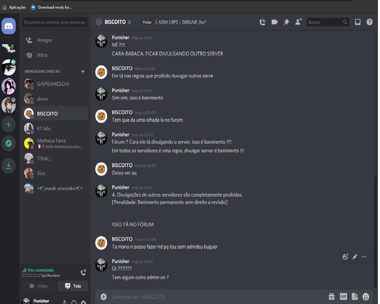 Denuncia Contra Administrador DOGAO_STAFF ADSSADS