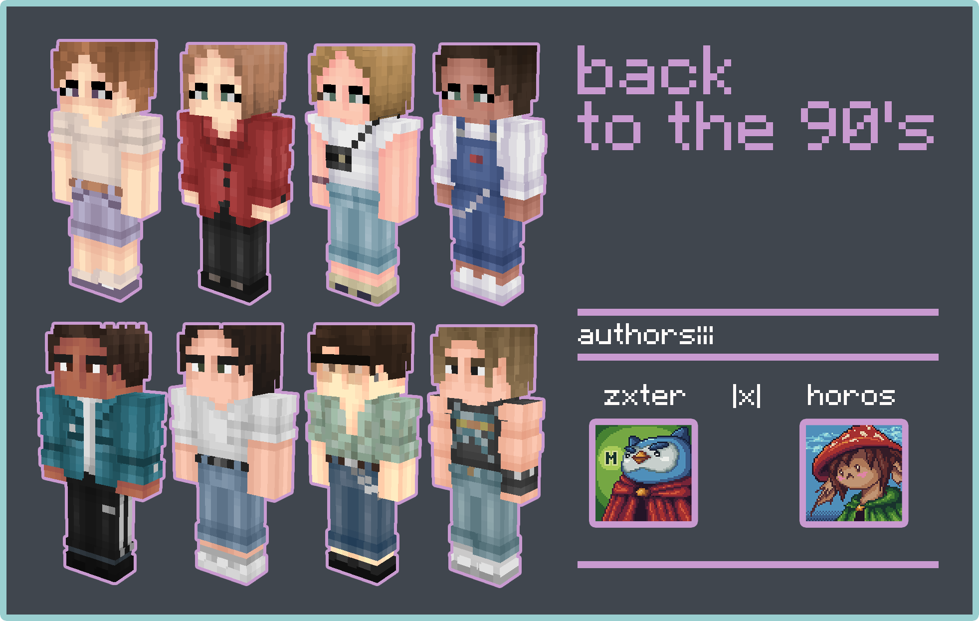 back to the 90's [Skin Pack] 8 variations! Minecraft Skin