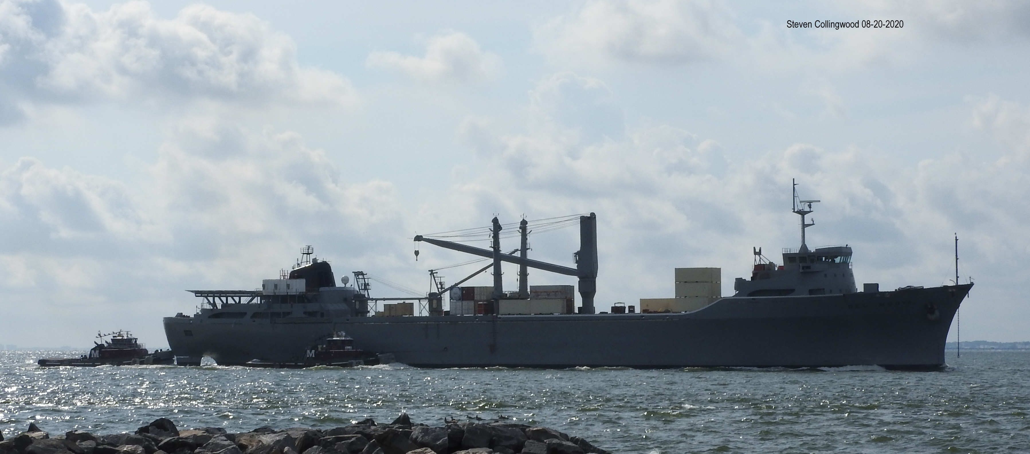 Del Monte under tow in 2020. Credit: Steven Collingwood on shipspotting.com