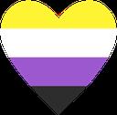 Emoji for nonbinary_heart