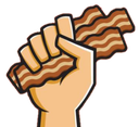 Emoji for baconhand