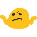 Emoji for blobshrug