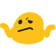 Emoji for blobShrug