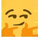 Emoji for smirk_two_hand