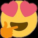 Emoji for heart_eyes_thinking