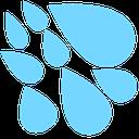 Emoji for raindrops