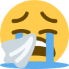 Emoji for 8640_Sob_with_tissue