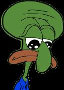 Emoji for Sad_Squidward_Pepe